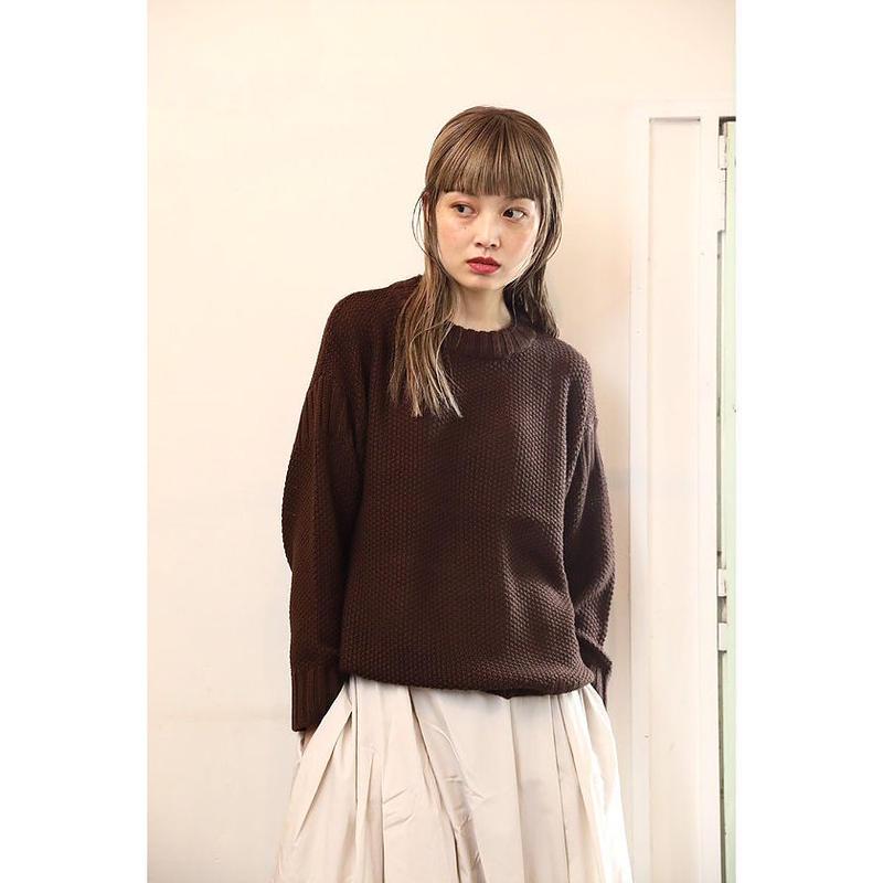 【WOMEN'S】THE FACTORY ヴィスコースウールカノコセーター(Brown)