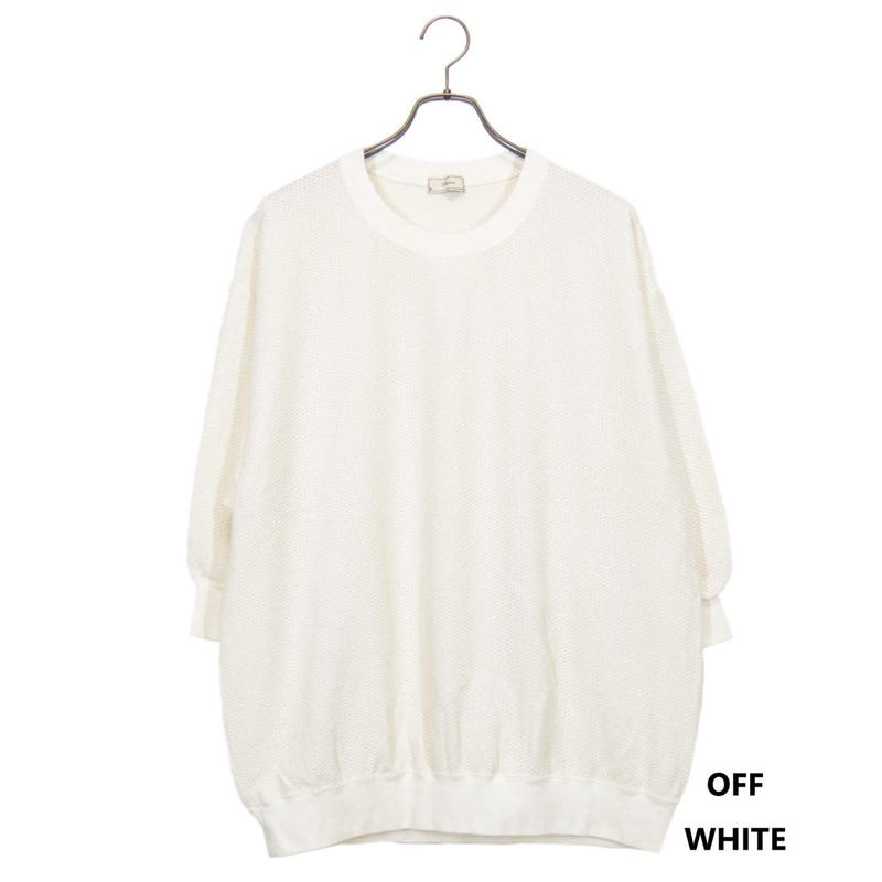 Iroquois 30/2 PARALELED YARN スウェット(OFF WHITE)