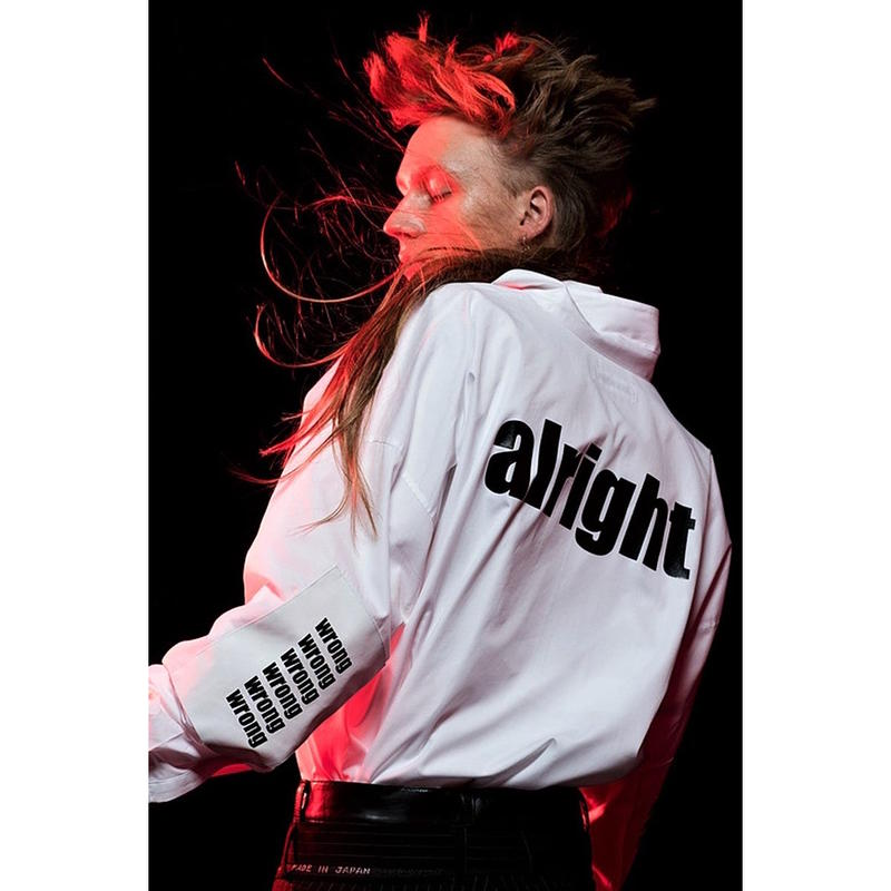 "DISCOVERED ""ALRIGHT""SHIRT(WHITE)"