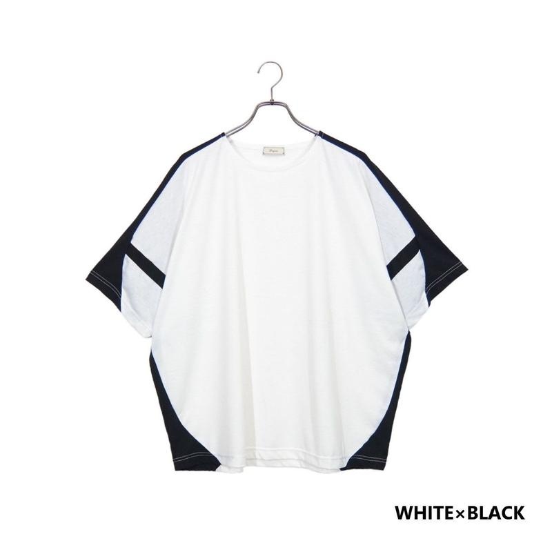 Iroquois T/R TRACK CUT&SEWN(WHITE×BLACK)
