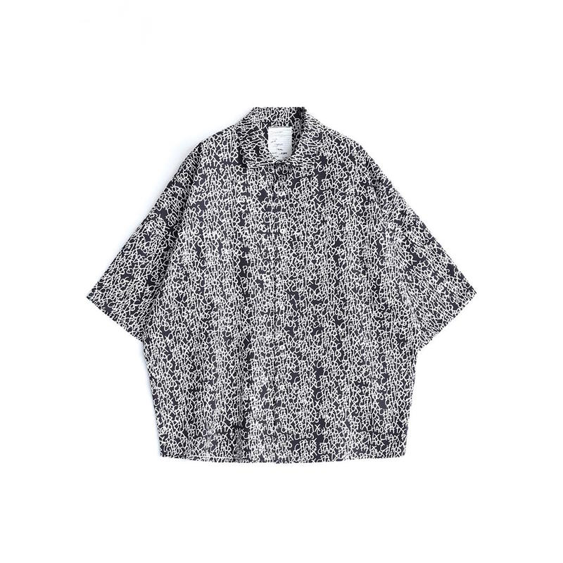 SHAREEF LETTERING PATTERN S/S SHIRT(Black)
