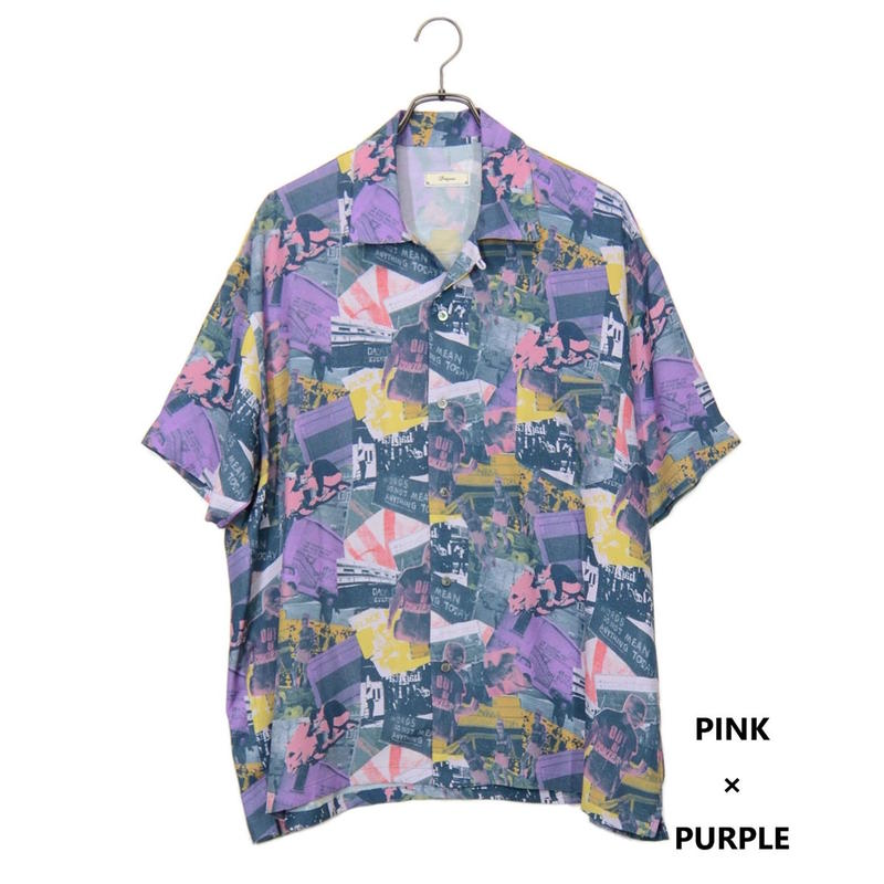 Iroquois LONDON'S BURNING グラフィックシャツ(PINK×PURPLE)