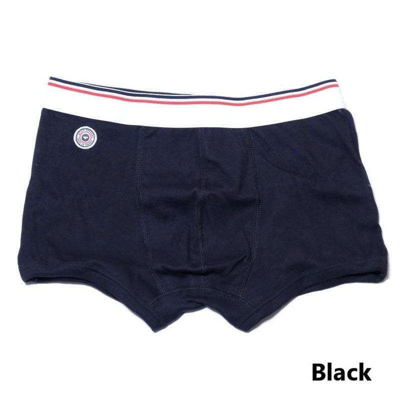 Le Slip Francais Permanent Cotton Boxer Briefs(Black)