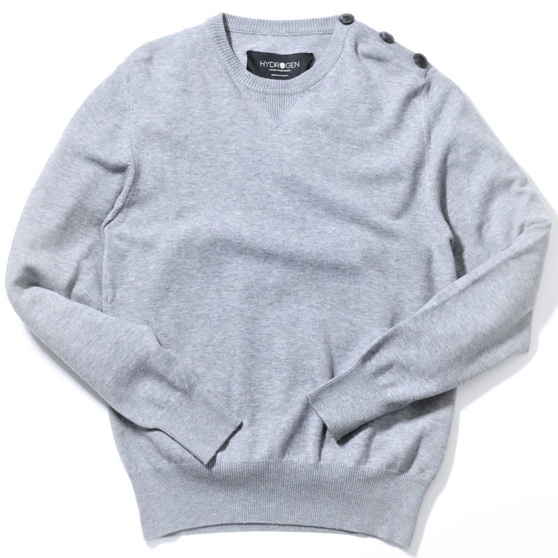 HYDROGEN NYLON RAYON SWEATER(GRAY)