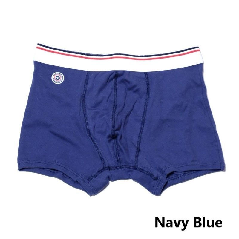 Le Slip Francais Permanent Cotton Boxer Briefs(Navy Blue)