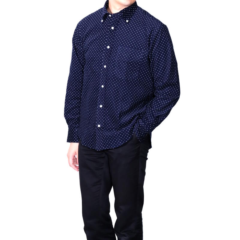 FEEL EASY ORIGINAL CORDUROY DOT B.D SHIRT(Navy)