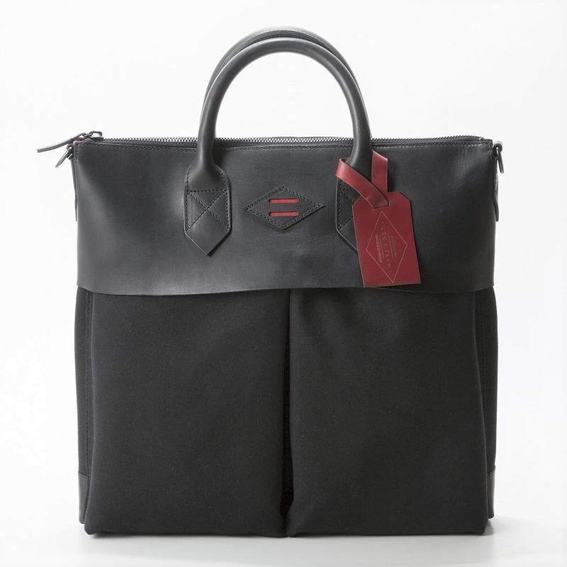 LEON FLAM Sac21H Comte de la Vaulx/Leather×Camvas(Full Black)