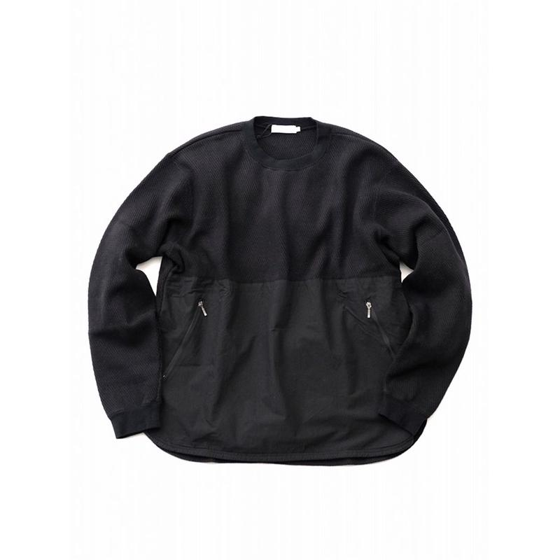 RICEMAN Waffle Sweater(BLACK)
