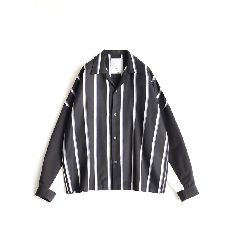 SHAREEF RGB STRIPE BIG SHIRTS(WH/BK Stripe)