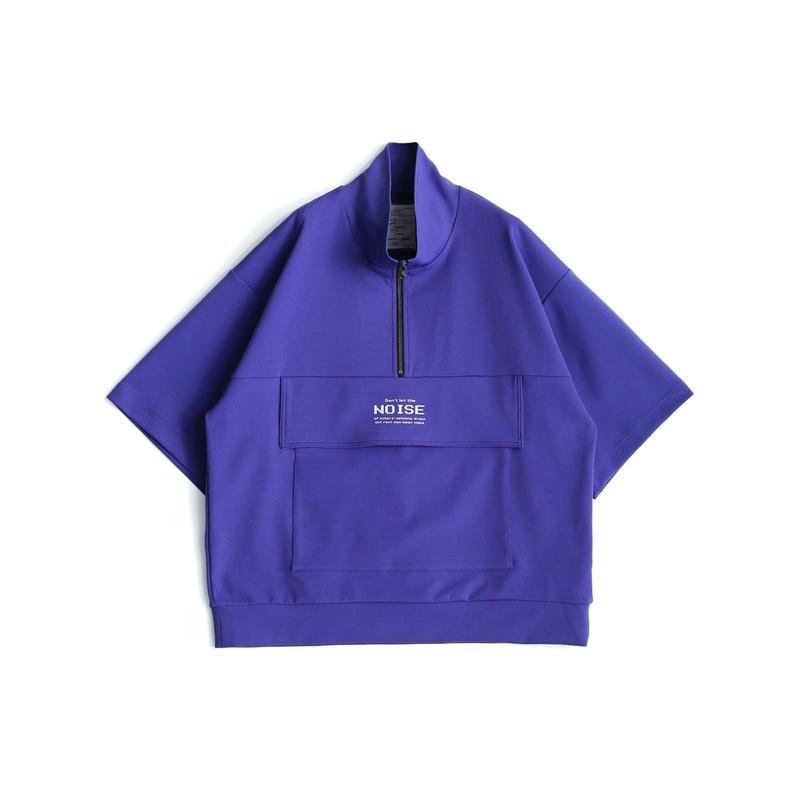 SHAREEF MILAN RIB HALF-ZIP S/S(Lavender)