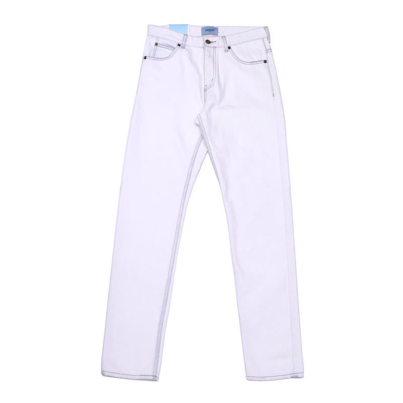 SERGE LIMIT BLEACH TAPERED(WHITE)