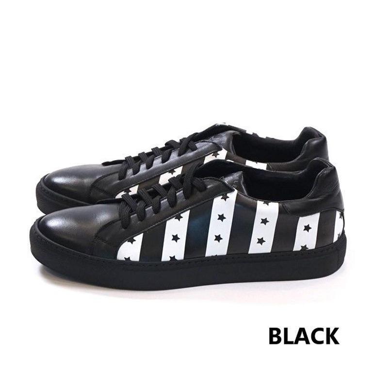 DANIELE ALESSANDRINI STAR STRIPE SNEAKER(BLACK)