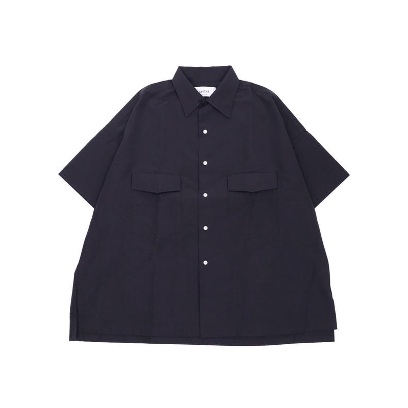 UNITUS Open Collar Big Shirt(Black)