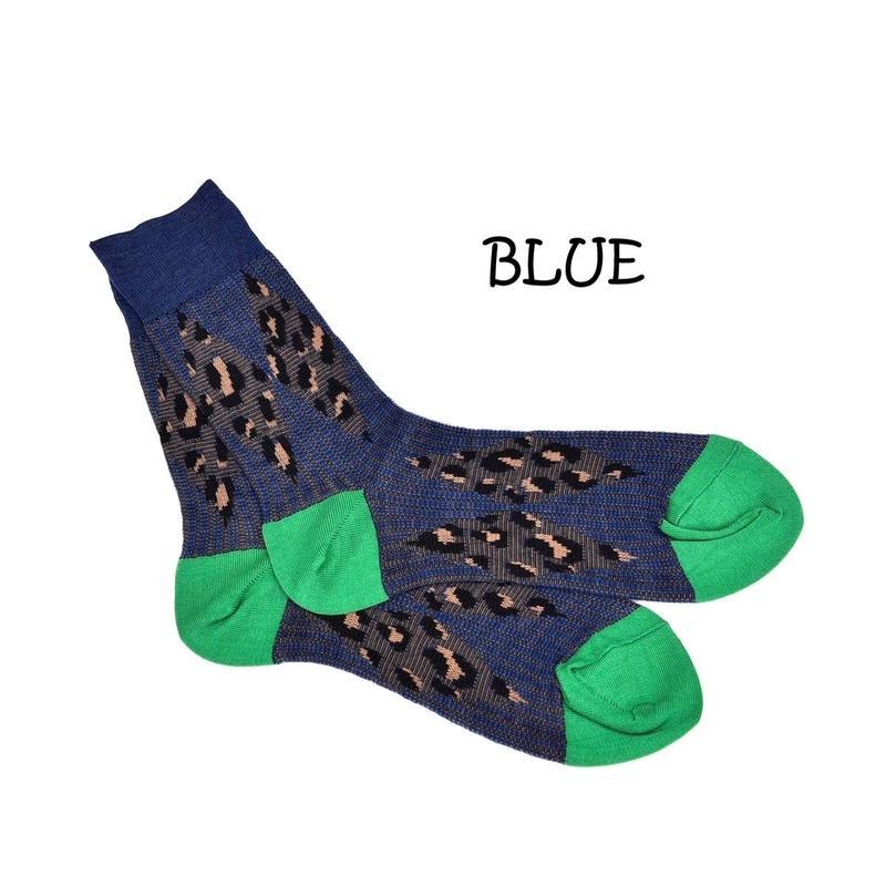 DISCOVERED LEOPARD SOCKS(BLUE)