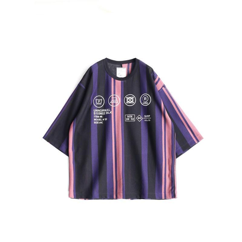 SHAREEF BE MALTI STRIPE S/S BIG-T(Purple)
