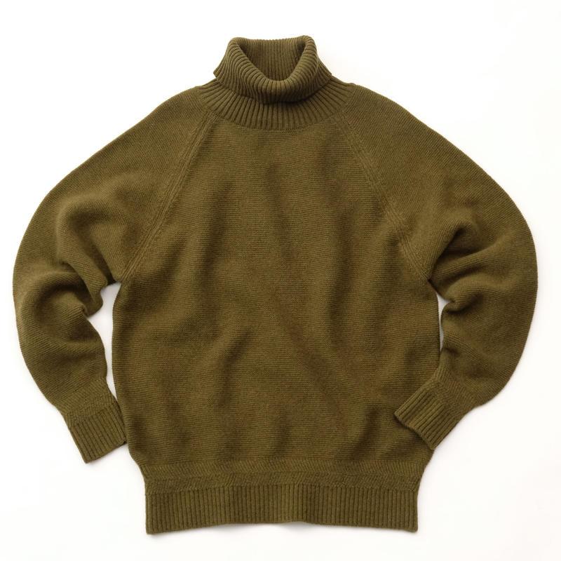 RICEMAN High Neck Knit(OLIVE)