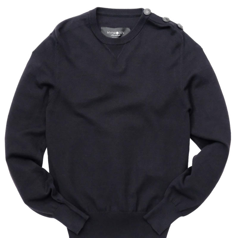 HYDROGEN NYLON RAYON SWEATER(BLACK)