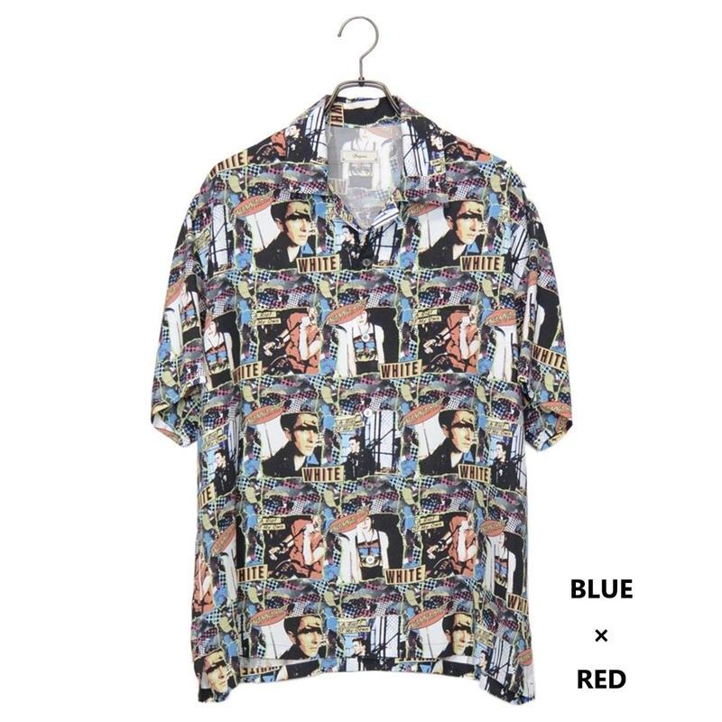 Iroquois WHITE RIOT グラフィックシャツ(BLUE×RED)
