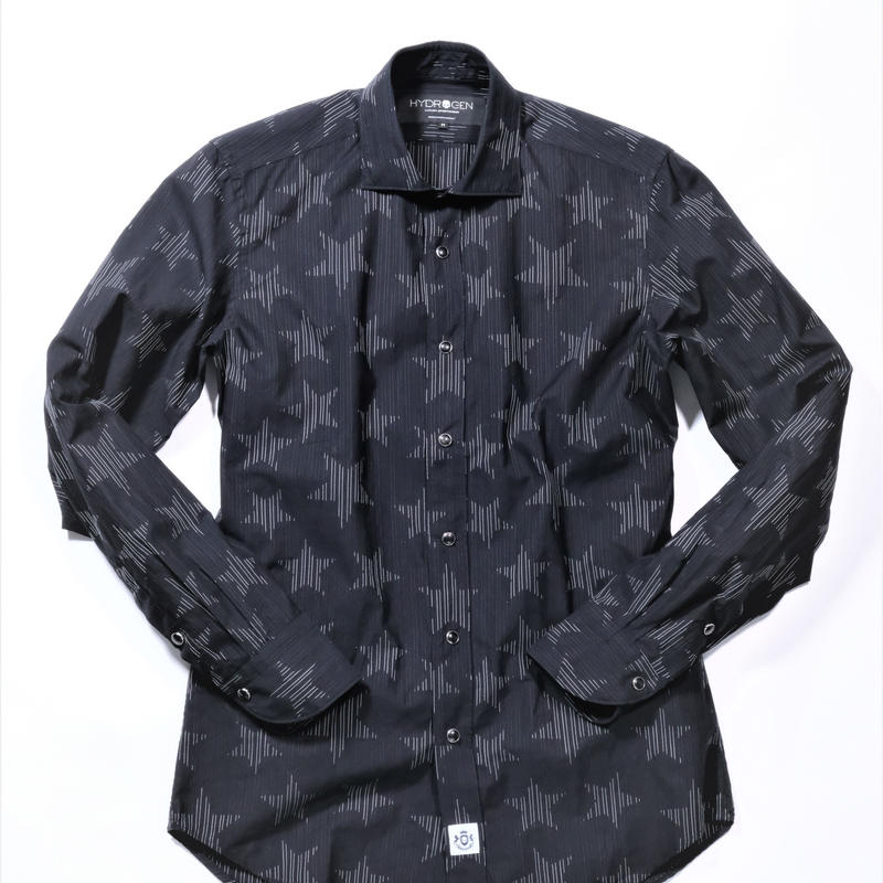 HYDROGEN STAR STRIPE SHIRT(BLACK)