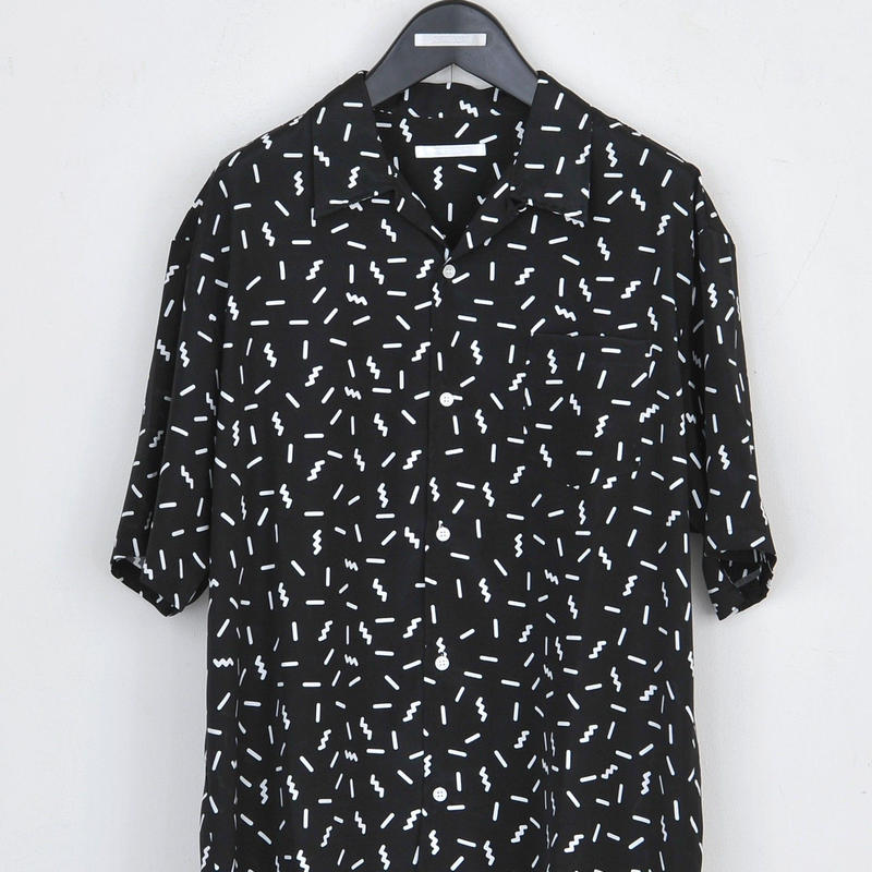 DISCOVERED PATTERN SHIRT(BLACK)