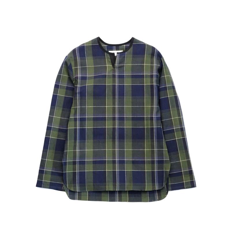 RICEMAN Pullover Shirt(GREEN×NAVY)