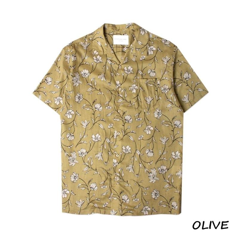 KESTIN HARE CRAMMOND SHIRT(OLIVE)