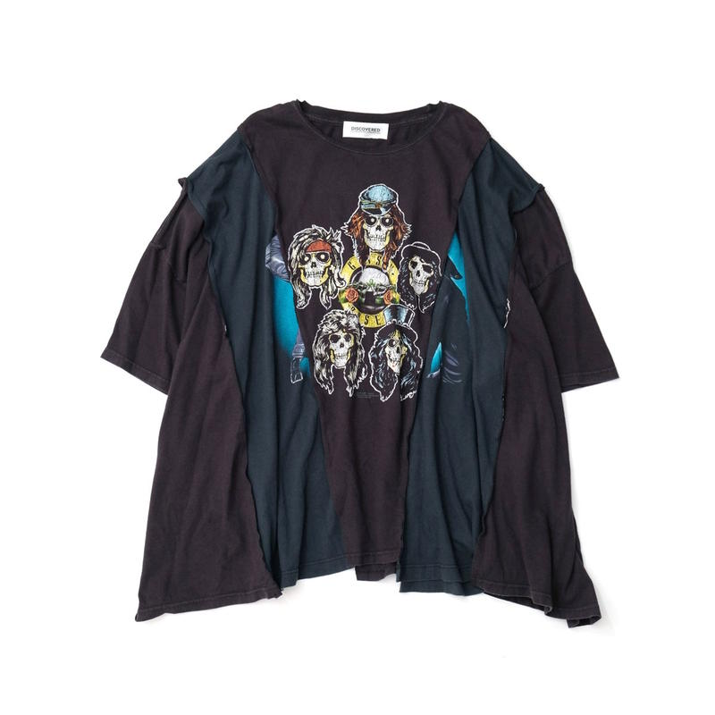 "DISCOVERED ""NEWSED""WIDE T-SHIRT(BLACK)"