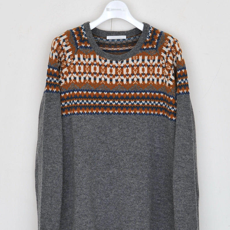 DISCOVERED NORDIC SWEATER(M.GRAY)