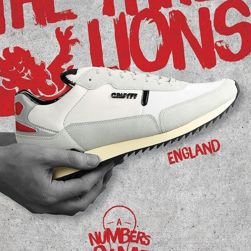 CRUYFF RIPPLE RUNNER LIMITED EDITION OF WORLD CUP【ENGLAND】(BIANCO×BLACK×RED)
