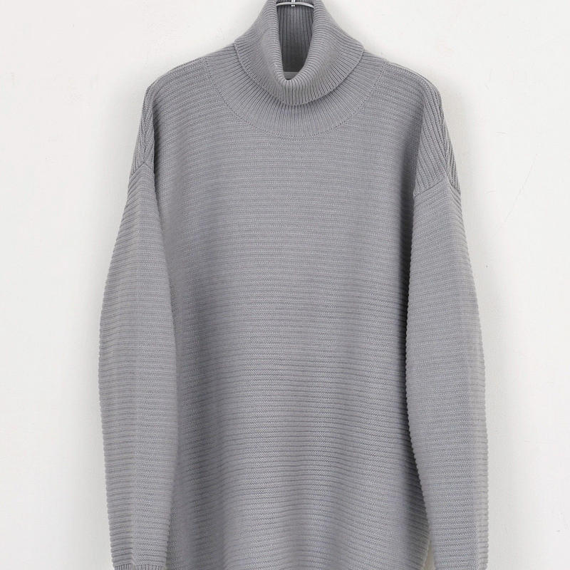 DISCOVERED TURTLENECK KNIT(GRAY)