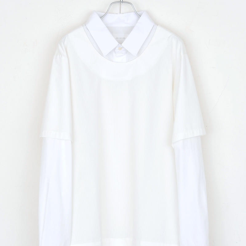 DISCOVERED ONE OVER SHIRT(WHITE)