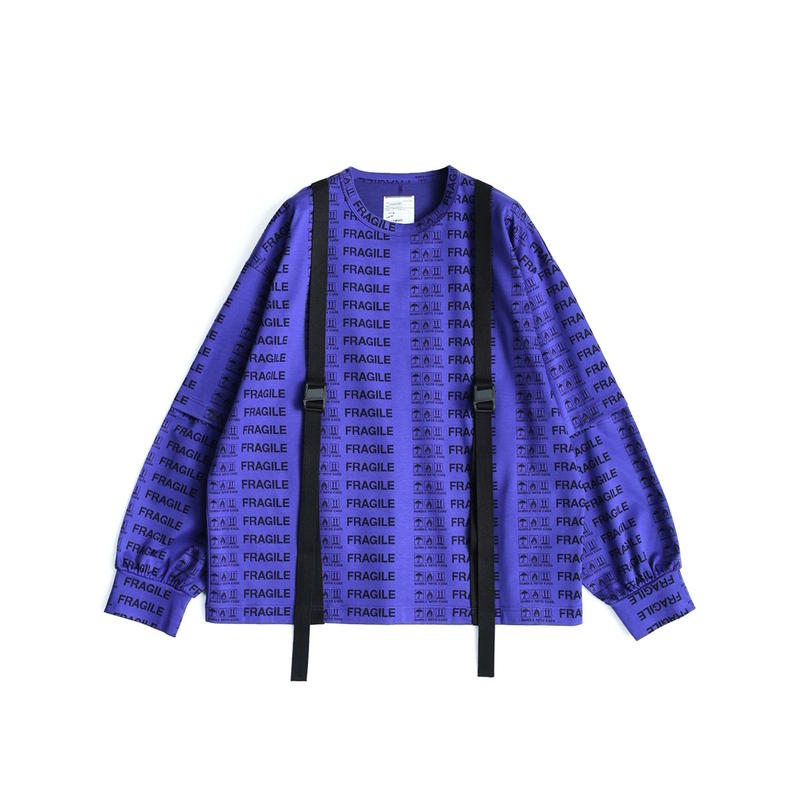 SHAREEF FRAGILE ROGO SEPARATE SLEEVE L/S-T(Lavender)