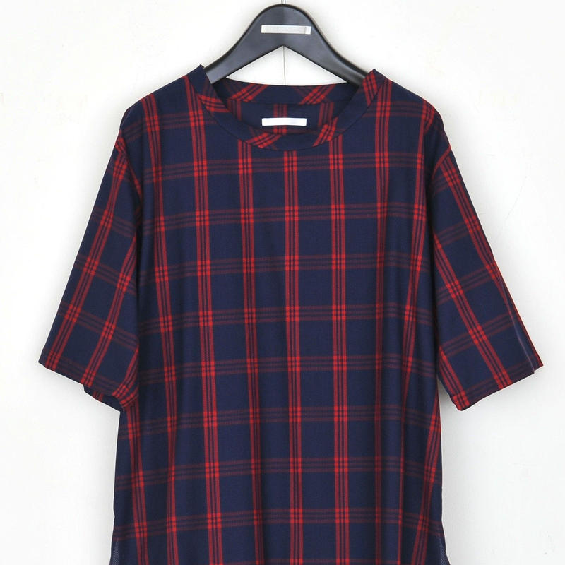 DISCOVERED MESH CHECK PULLOVER(RED)