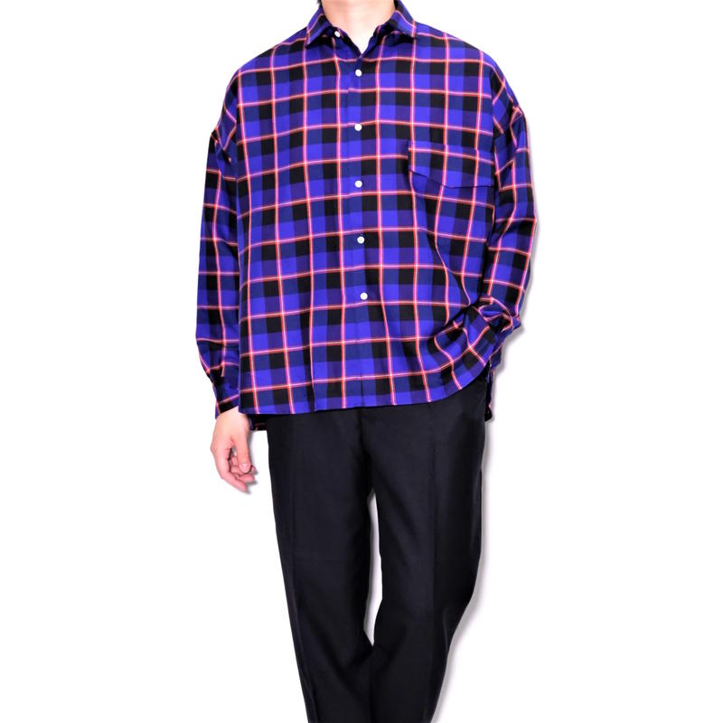 UNITUS Over Shirts(Blue Check)