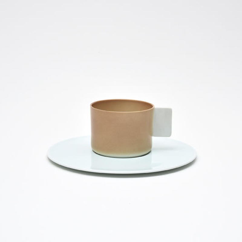 1616 / S&B Coffee Cup & Saucer  / Light Brown