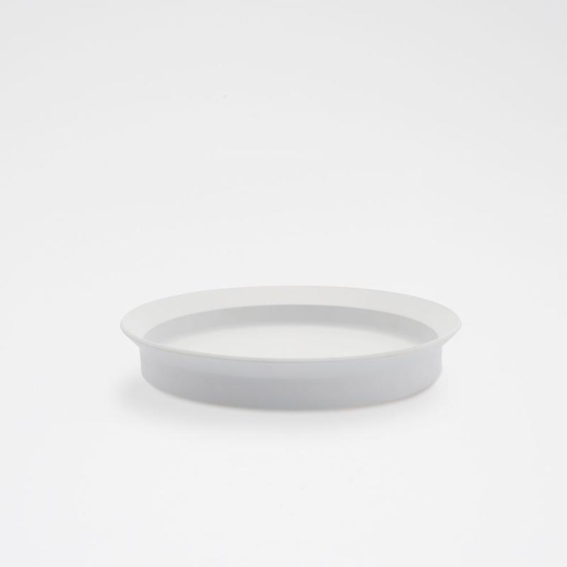 1616 / TY Round Deep Plate 200/ Plain Gray
