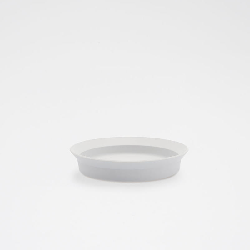 1616 / TY Round Deep Plate 160/ Plain Gray