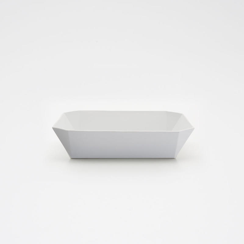 1616 / TY Square Bowl 184 / Plain Gray