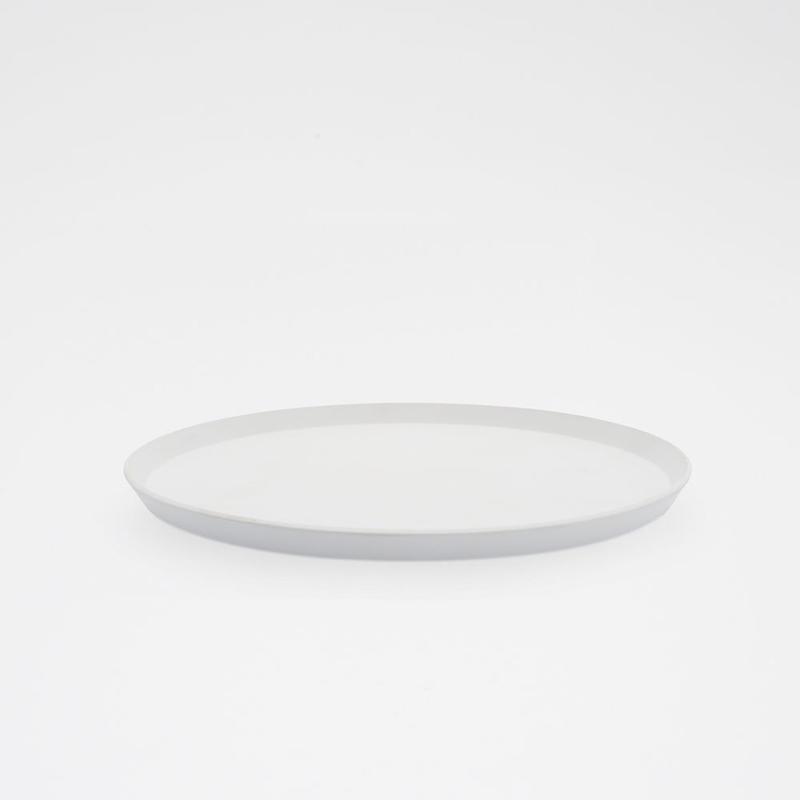 1616 / TY Round Plate 240 / Plain Gray