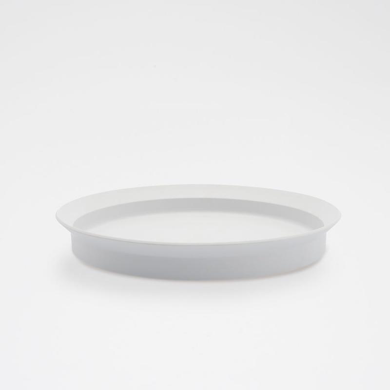 1616 / TY Round Deep Plate 240/ Plain Gray