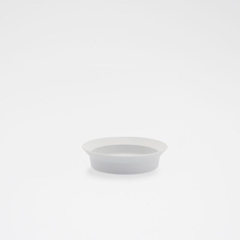1616 / TY Round Deep Plate 120/ Plain Gray