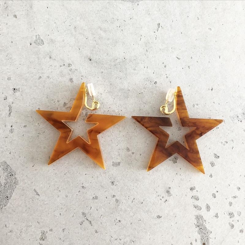 star hoop  earring(No Hole)