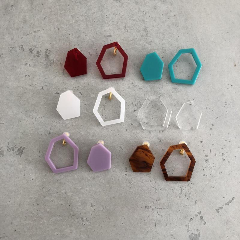 Hexagon large   pierce