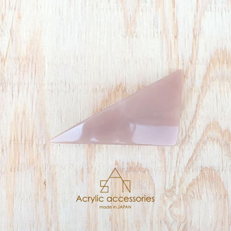 triangle barrette moss pink