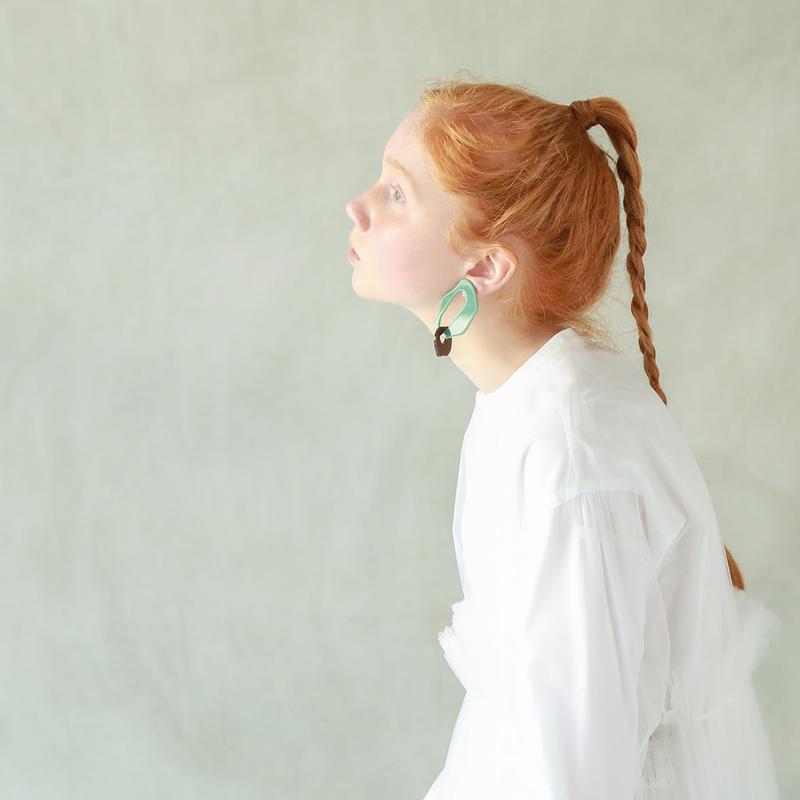 croisé  earring(No Hole)