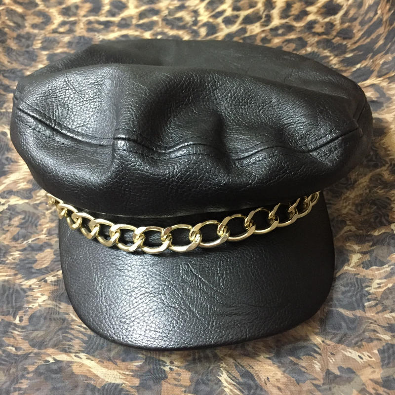Fake Leather x Chain Hat