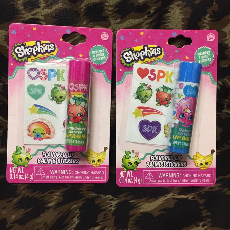 Shopkins Lip Balm&Stickers
