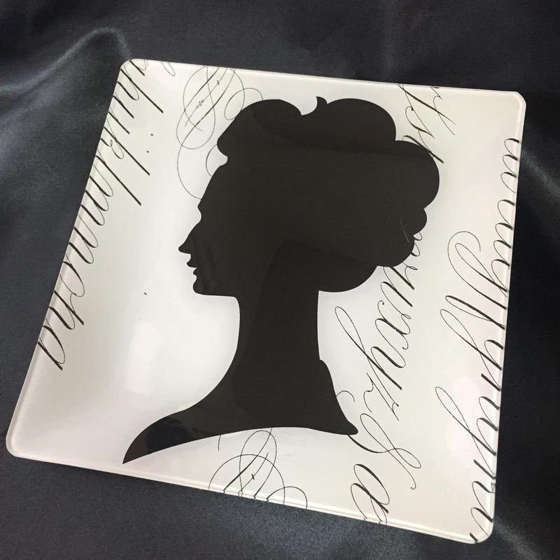 Fringe Studio Glass Tray Lady
