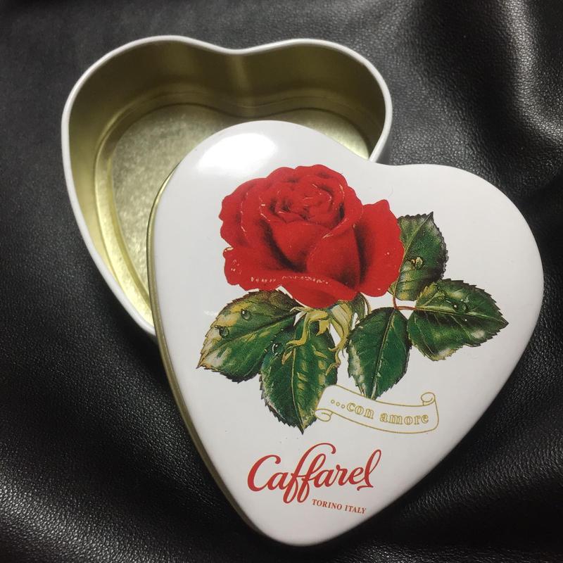 Caffarel Heart and Rose Tin Can