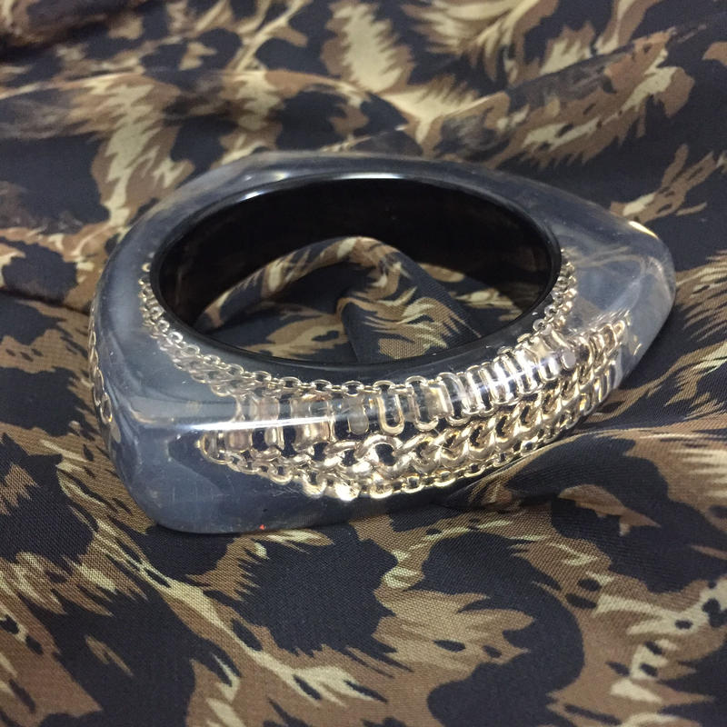 Clear Chain Bangle